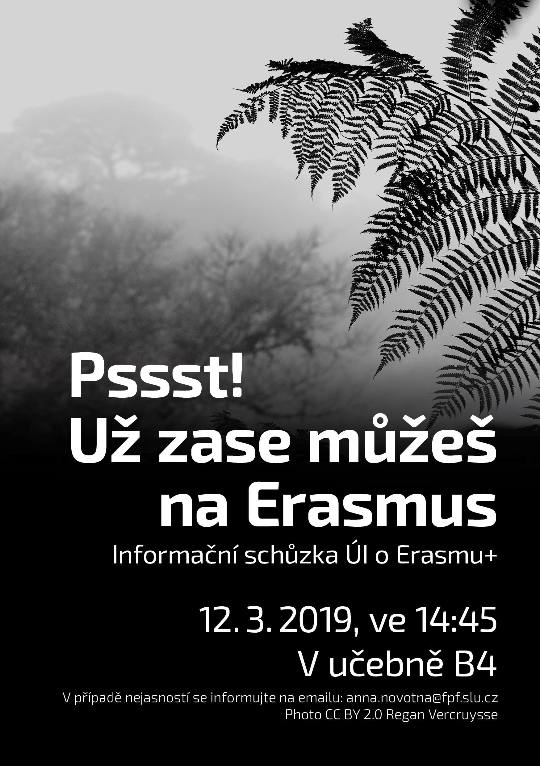 Informační schůzka - Erasmus - 2019