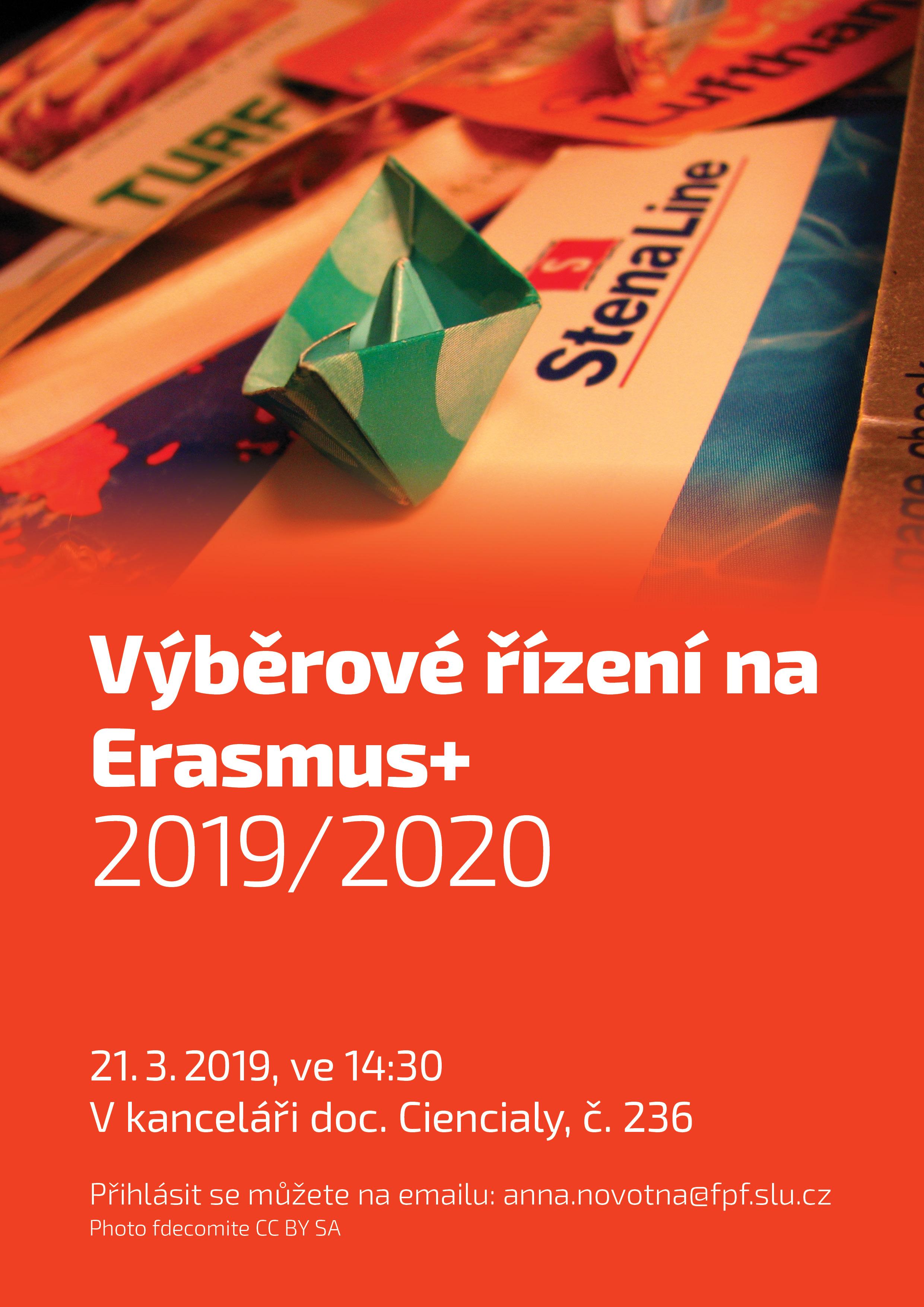 Výběrové řízení - Erasmus - 2019
